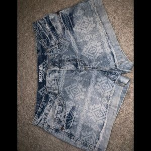 Tribal Jean Shorts